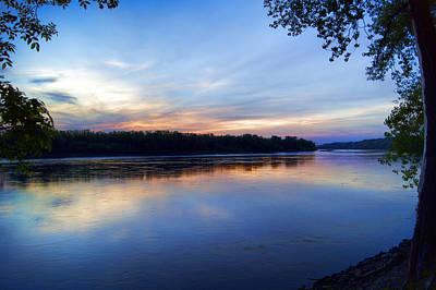 Missouri River Blues Print by Cricket Hackmann