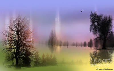 Landscapes Digital Art - Mist Coloring Day 2 by Mark Ashkenazi