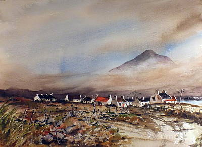 Mist Over Dugort Achill Island Mayo Print by Val Byrne