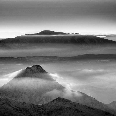 Aerial Photograph - Mists At The Mountains by Guido Montanes Castillo