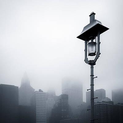 Misty City Print by Dave Bowman