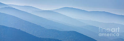 Misty Blue Hills Print by Rod McLean