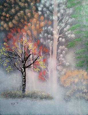Misty Magic Forest Print by Lee Bowman