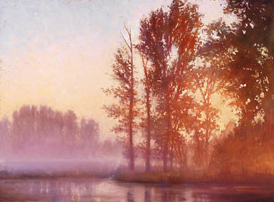 Misty Morning Memory Print by Michael Orwick
