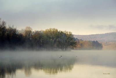 Misty Morning Sunrise Print by Christina Rollo
