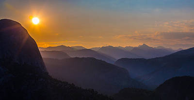 Misty Mountains Print by Mike Lee