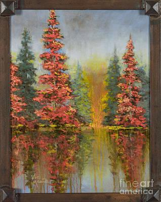 Misty Reflection Print by Vic  Mastis