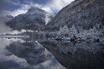 Lake Photograph - Misty Reflections by Dominique Dubied