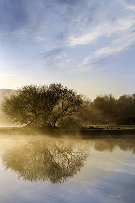 Country Scene Photograph - Misty River Sunrise by Christina Rollo