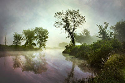 Mysterious Reflection Landscape Print by Christina Rollo