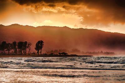 Haleiwa Photograph - Misty Seas V3 by Douglas Barnard