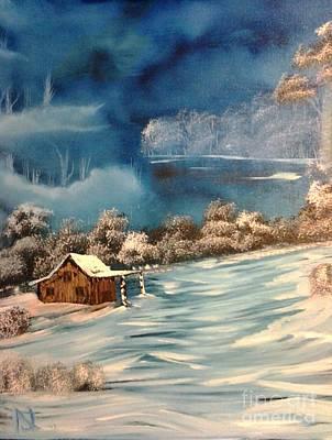 Misty Winter Print by Nick
