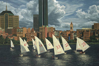 Cambridge Painting - Mit Sailors by Julia O'Malley-Keyes