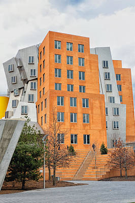 Mit Stata Center Designed By Frank Gehry Print by Marianne Campolongo