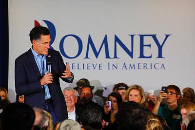 Mitt Romney Photograph - Mitt Romney by Joseph C Hinson Photography