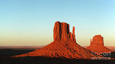 Mitten Buttes At Sunset Print by Jane Rix