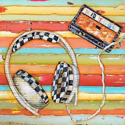 Mix Tape Print by Danny Phillips
