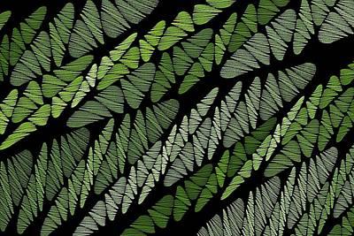 Mixed Assembly-green Print by Doug Morgan