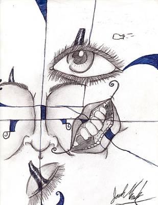 Joshua Massenburg Drawing - Mixed Face by Joshua Massenburg