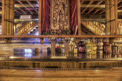 Reflections On Bottle Photograph - Mixers - A Seat At The Bar by Jason Politte