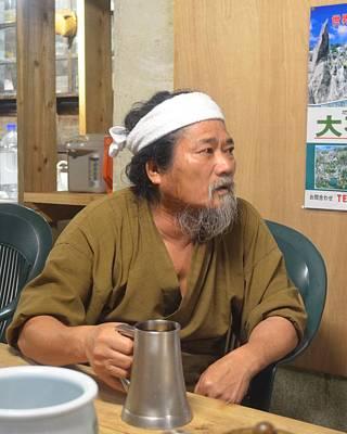 Hedo Photograph - Miyagi Minshuku Owner With Okinawan Awamori by Jeff at JSJ Photography