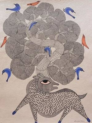 Gond Art Gallery Painting - Mkt 78 by Manoj Kumar Tekam