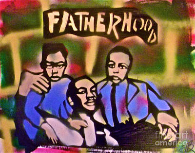 Civil Rights Painting - Mlk Fatherhood 2 by Tony B Conscious