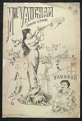 Mme Vaugham Print by British Library
