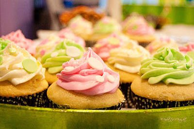 Mmm... Cupcakes Print by Paulette B Wright
