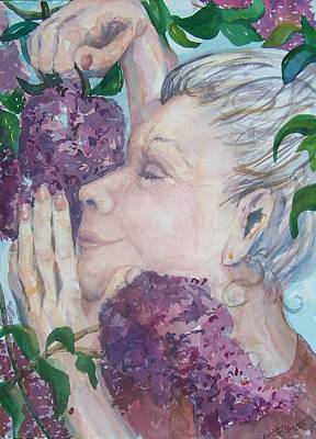 Updo Painting - Mmmm Lilacs by Barbara McGeachen