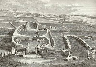 Mnajdra Megalithic Temple Print by Middle Temple Library