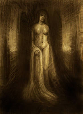 Mnemosyne Goddess Of Memory II Print by Derek Van Derven