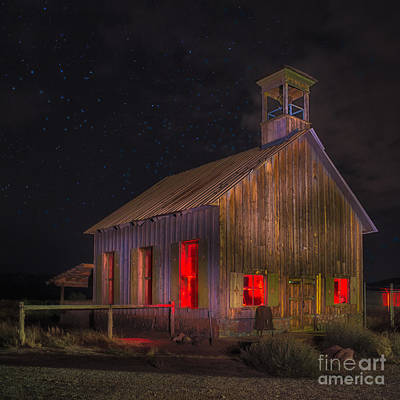 Old School House Digital Art - Moab One Room Schoolhouse by Jerry Fornarotto