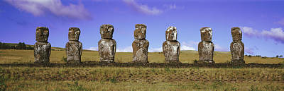 Moai Easter Island Chile Print by Panoramic Images