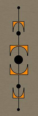 Art Mobile Digital Art - Mobile 1 In Orange by Donna Mibus