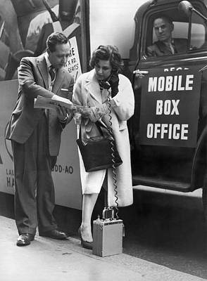 Mobile Box Office Phone Print by Underwood Archives