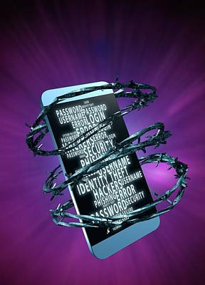 Data Photograph - Mobile Data Security by Victor Habbick Visions