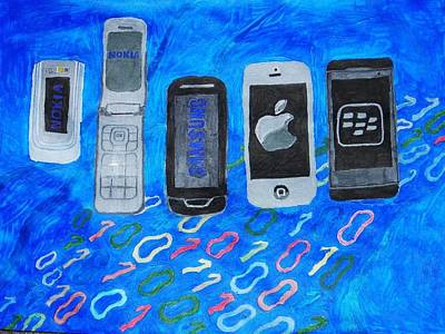 Data Mixed Media - Mobile Evolution by Melissa Nowacki