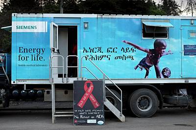 Mobile Health Clinic In Addis Ababa Print by Tony Camacho