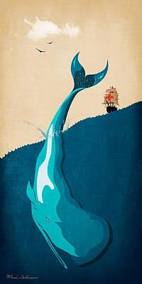 Moby Dick 2 Print by Mark Ashkenazi