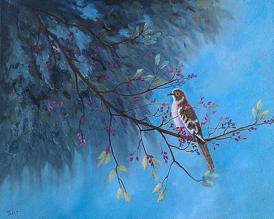 Mockingbird Painting - Mockingbird Happiness by Suzanne Theis