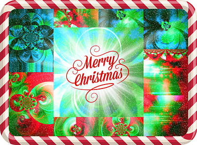 Abstract Photograph - Mod Cards - Merry Christmas by Aurelio Zucco
