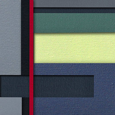 Painting - Mod Color Block Two 3d by Slade Roberts