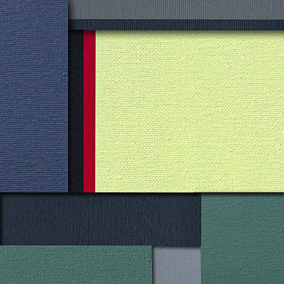Painting - Mod Color Block Four 3d by Slade Roberts