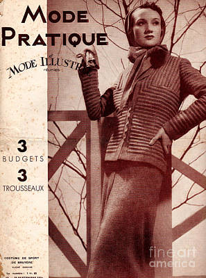 Nineteen-thirties Drawing - Mode Practique 1930s France Womens by The Advertising Archives