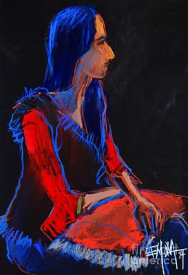 Model #2 - Figure Series Print by Mona Edulesco