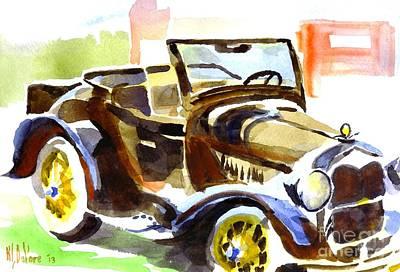 Model A In September Sunshine Print by Kip DeVore
