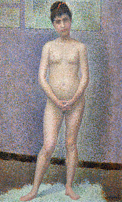 Master Painting - Model From The Front by Georges Pierre Seurat