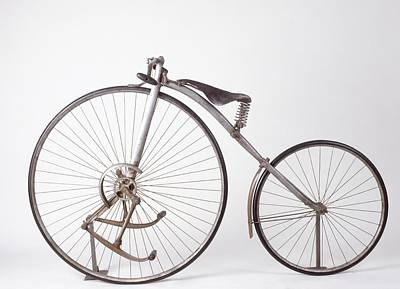 Gear Photograph - Model Of Geared 'facile' Bicycle by Dorling Kindersley/uig
