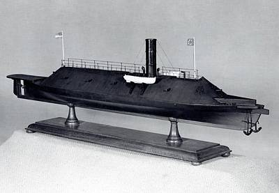 Model Of Ironclad Warship Css Virginia Print by Us Navy/naval History And Heritage Command